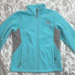 Light blue and Grey North Face Jacket